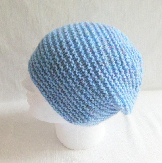Knit Beanie Pattern Worsted Weight : KNITTING Pattern/ BLUE RIDGE Mans Slouch Beanie/ by RomeoRomeo