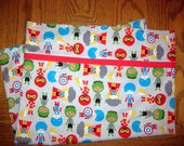 Ann Kelle Super Kids in Grey Standard Pillowcase