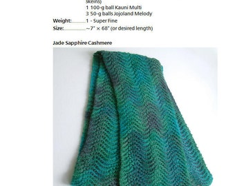 Feather and Fan Scarf Pattern