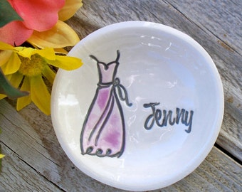 Bridesmaids Gifts - Personalized Wedding Party Gifts - Maid of Honor - Flower Girl -  Ring Dish - Ring Bowl - Jewelry Dish