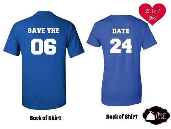 Items Similar To Custom Save The Date Shirts Engagement