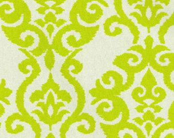 "SAMPLE SALE RUNNER 47"" Table runner Damask Table Runner Waverly Luminary Chartreuse Lime on Natural"