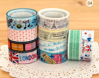 10 Rolls Scrapbook Sticker Adhesive Deco Tapes (P191.4)