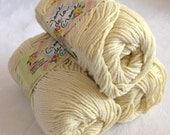 CREAM cotton yarn, Creme de la Creme dishcloth cotton, kitchen cotton, worsted weight