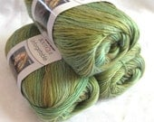 Red Heart Unforgettable yarn MEADOW,  prairie shades of green brown mustard, worsted weight, Red Heart Boutique