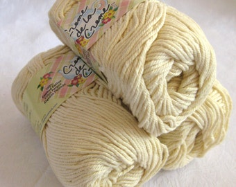 CREAM cotton yarn, Creme de la Creme dishcloth cotton, kitchen cotton, worsted weight
