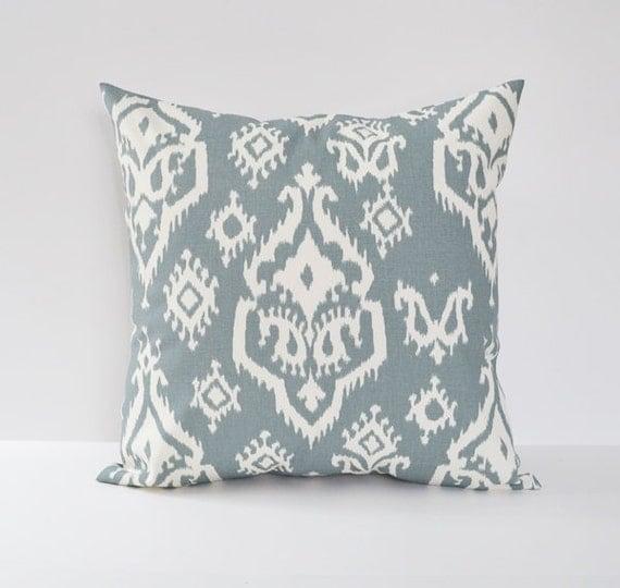 Decorative Pillow Sizes : Gray Pillow Cover Ikat Pillow Decorative Pillow 8 Sizes