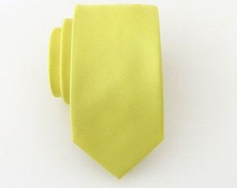 Skinny Tie Yellow Skinny Necktie