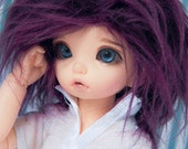Akasarushi Imperial Purple Color Fur Wig Made for abjd doll size SD MSD tiny yosd and puki