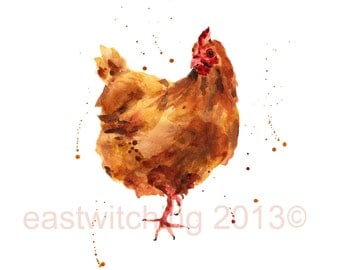 HEN print, rustic art, Gift for Mom, chickens