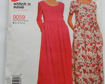 McCall's Easy Misses Dress Pattern N 9059, Uncut Sizes 8 thru 14
