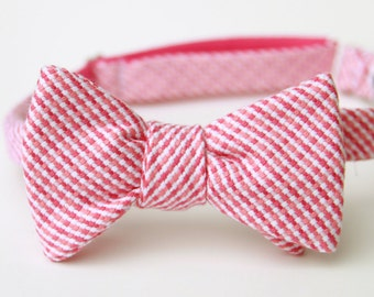 luxe magenta & coral freestyle bow tie