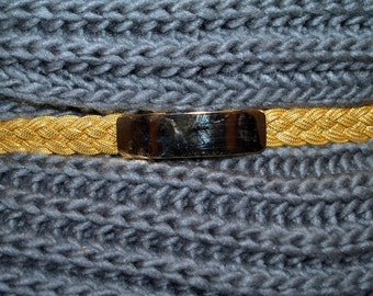 Belt Gold-Tone Braided Stretch with Gold Buckle