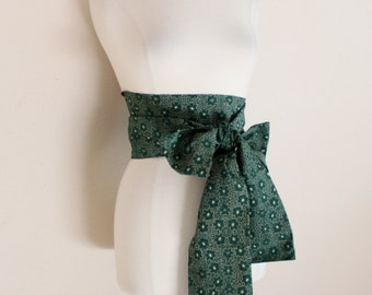 eco chic cotton obi green floral print ready to ship