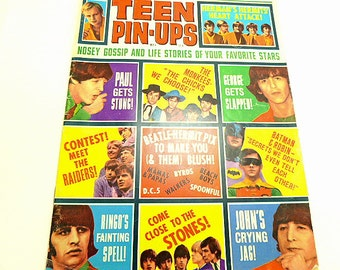 Vintage TEEN PIN UPS Teen Idol Magazine