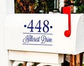 ONE Custom Personalized Address Street Name decal