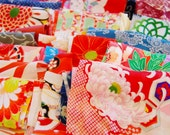 Vintage Kimono Fabric Lucky Dip Pack - Small Pieces 200grams
