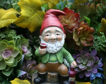 Wine Lover Garden Gnome - Red, White & Cheers to Rude Gnomes