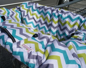 Shopping Cart cover or High Chair Cover for boy or girl.....SHI SHI Chevron
