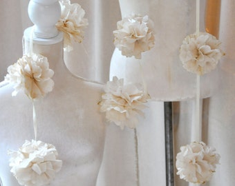 hand made paper flower garland