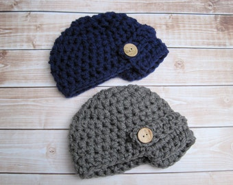 Twin Baby Hats, Baby Twin Hats, Twin Baby Beanie, Newborn Twin Hats, Twin Baby Boy Hats, Twin Baby Newsboy Hats, Twin Newborn Beanie, Infant