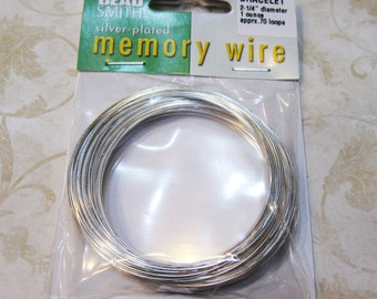 Memory Wire Silver Plated Beadsmith Bracelet 2.5 inch Diameter 1 Ounce Package CBWS25070