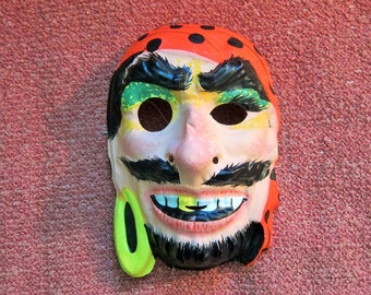 Vintage 1970s Halloween Pirate Mask