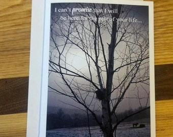 NEW!  I cannot promise greeting card is a photograph by Artist Laurie Sherrell.