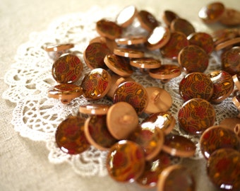 Vintage - 10 Brown Buttons
