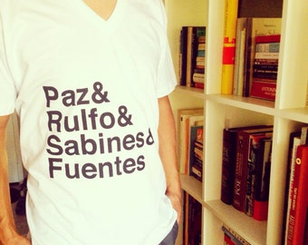 mexican writers v neck tee