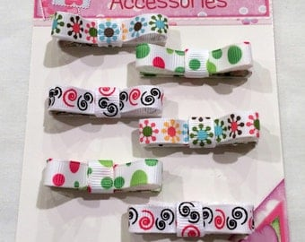 Hair Clips Fully Lined Set of 6