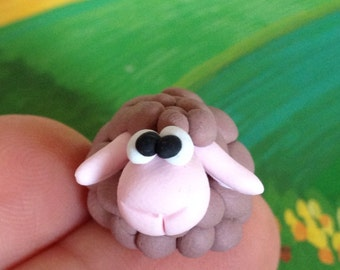 Little sheep - a Polymer  Clay Creation by Bdbworld on Etsy (No 11)