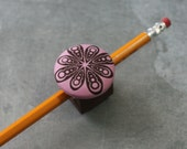 Magnetic Pen, Pencil, or Chalk Holder - Limited Design - Pink and Brown- Ready to ship