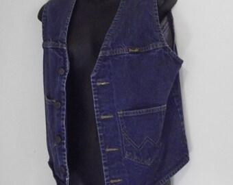 Vintage Wrangler 1980s demin vest