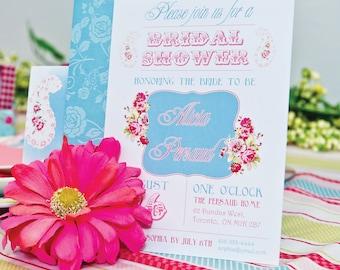 Bridal Shower Invitation -Spring Flowers
