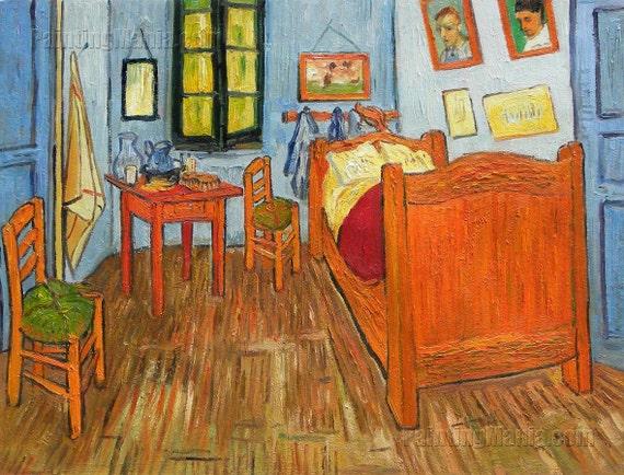 Vincent 39 s bedroom in arles vincent van gogh high quality for Bedroom in arles