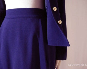 Vintage Christian Lacroix Skirt Suit - Purple Wool Paris Designer Suit
