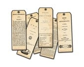 Jane Austen Bookmarks - Jane Austen Facsimile Bookfronts, Jane Austen Novels, Pride and Prejudice, Classic Bookmark