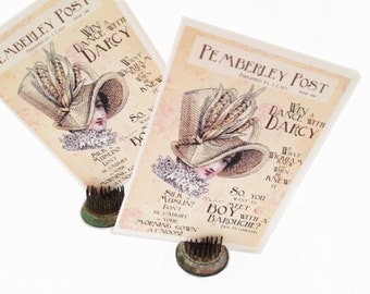 Pemberley Post Note Cards, Jane Austen Note Cards, Bridal Shower Thank You Cards, Pride & Prejudice Fun Faux Magazine What Would Jane Do