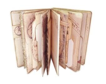 Map Travel Journal, World Atlas Journal, Travel Scrapbook, Blank Journal, Passport Notebook, Personalized Journal, Vacation Log Trip Diary