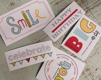 Birthday/Celebrate Iron on Label