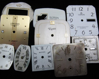 Vintage Antique Watch Dials Steampunk  Faces Parts DG 11