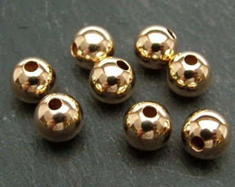 Gold Filled Plain Bead 7mm (CG6139)