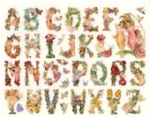 Self Adhesive Fairy Alphabet Stickers 1 Sheet Colorful Scrapbooking Stickers  Number 77
