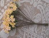 Wholesale Lot 5 Bundles Czech Republic Forget Me Nots Millinery Fabric Flowers Peach