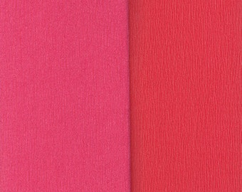 Gloria Doublette Double Sided Crepe Paper For Flower Making Made In Germany Salmon And Watermelon #3311