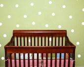 30 Polka dot  - vinyl wall decals, vinyl wall art, nursery, baby, dot design