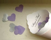 Tissue Confetti Hearts for Wedding - White, Pink, Hot Pink, Aqua, Lilac, Plum, Navy Blue, Red, Yellow,  Silver, Gold, Dark Gold