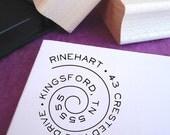 Swirly Spiral Customized Address Stamp
