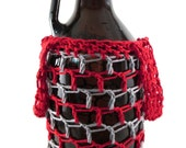 Crocheted Cotton Growler Bag- Custom Colors